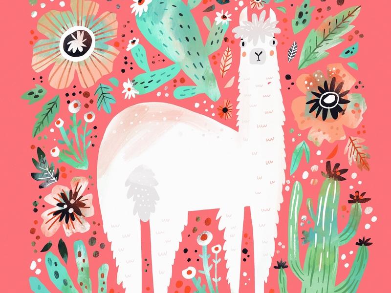 Hey Alapaca doodle born animals doodle design cute art kids digital procreate llama alpaca cute adorable cute animal project 100 hand drawn illustration