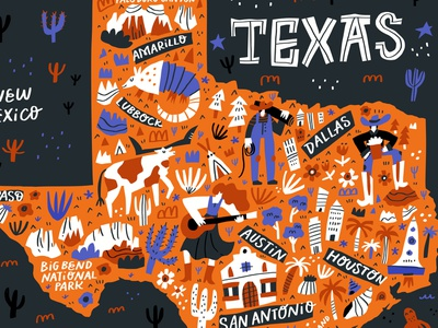 Texas Map handdrawn map texas usa travel letters concept handdrawn cartoon doodle vector drawing typography hand drawn lettering illustration cartography maps mapping map