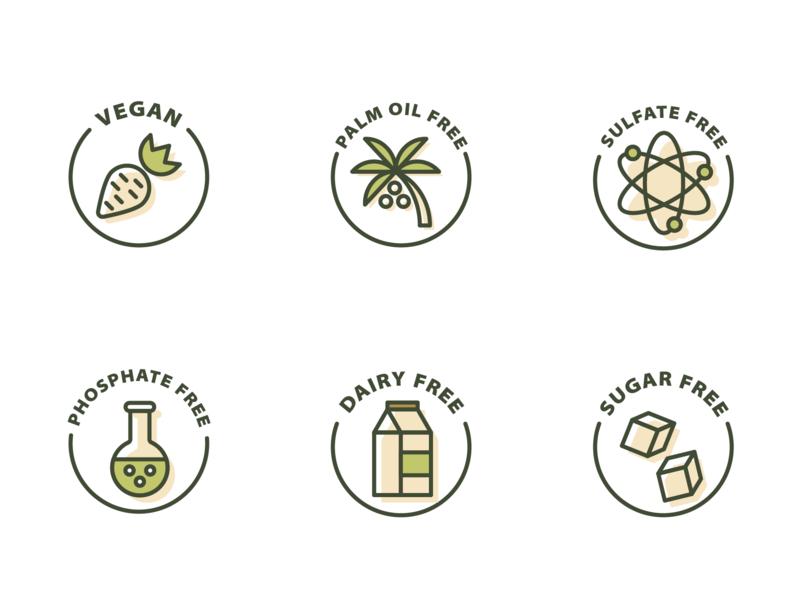 Ecology labels icon pack icon set organic zero waste bio eco
