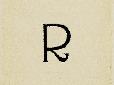 R letter printing paper letter typeface designer graphic design branding ui logo art typography illustration hcmc dribbble design
