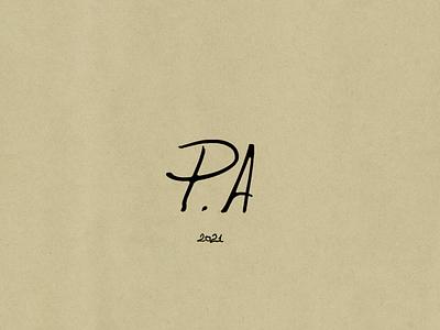 PA logo letter handwritting japan designer artist brand art branding logo graphic design typography vietnam illustration hcmc dribbble design