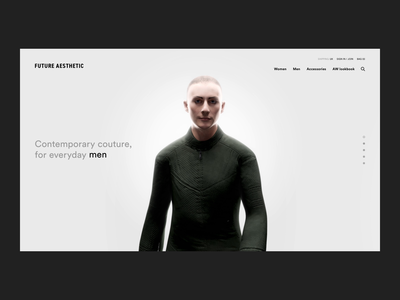 FUTURE AESTHETIC interaction design interaction website web deisgn ux cinema 4d animation after affects ui fashion digital design 3d c4d art direction