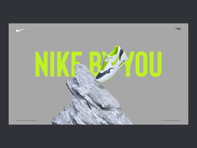 Nike — Natural Selection fashion ux user experience ui navigation interface digital web motion design motion concept nike interaction design cinema 4d c4d animation animated after effects 3d animation 3d