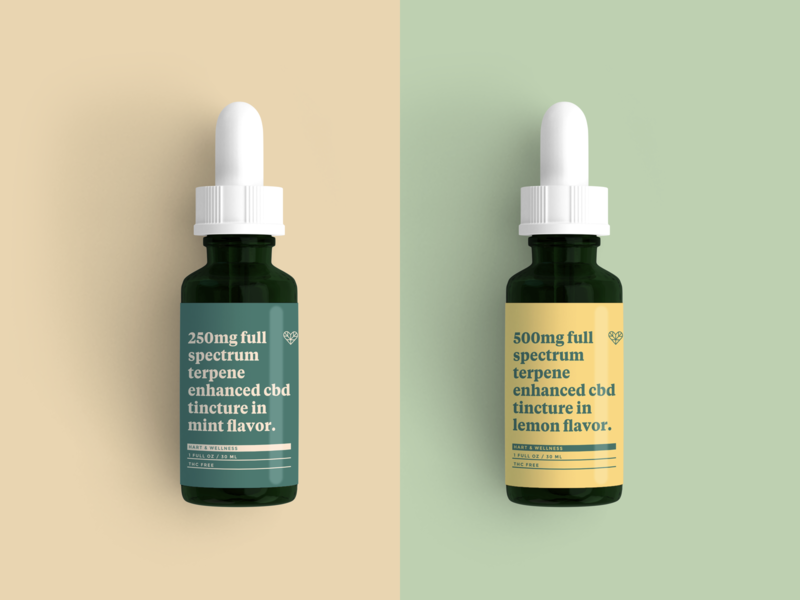Hart & Wellness Tincture Bottle Mockup