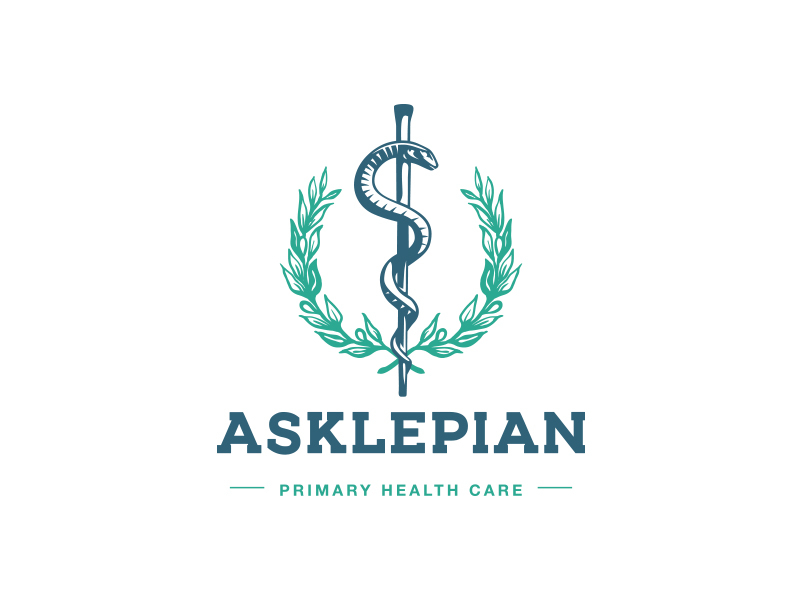 Rod of Asclepius pharmacy logo
