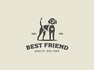 Dog logo branding negative space simple minimalism minimal mark logo animal dog food hunting hound dog
