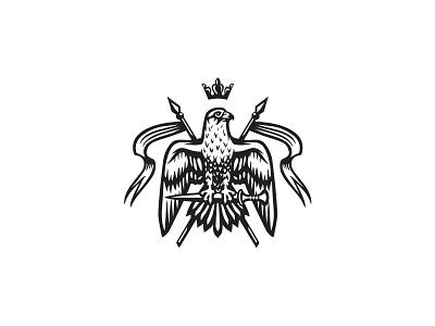 Falcon Heraldry logo design financial services real estate gcc falconry corporate heraldry mark bird logo hawk eagle falcon