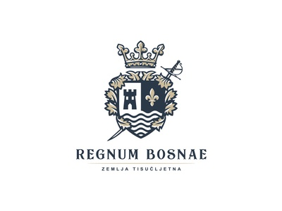Royal Crest logo design crown swords fleur-de-lis tower water luxurious royal crest logo crest heraldic branding