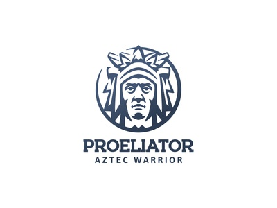 Astec Warrior portrait man heritage culture character branding illustration negative space mark logo mexico aztec