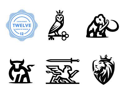 LogoLounge Book 12 mark animal lion griffin bull mammoth owl logolounge book 12 negative space logolounge branding logo