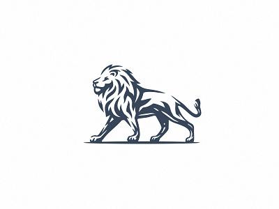 Lion logo design africa logo animal logo corporate branding sport lion king majestic branding illustration minimal negative space lion logo