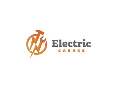 Electrical Technology  Service logo design technology computers it electrical instalation service branding lightning bolt bolt minamal circle hammer key wrench electricity simple classic mark logo electric electrical