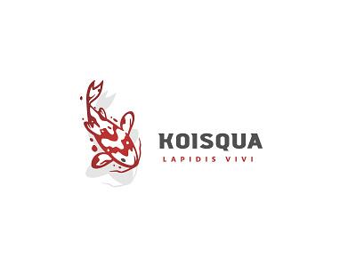 Koi fish logo vector minimal classic negative space branding illustration abstract red animal mark fish logo ornamental jewel living carp fish koi