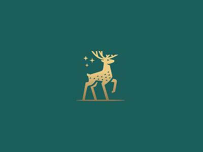 minimal deer logo design classic elegant deer illustration minimalistic powerfull proud star green gold branding financial advisor minimal simple royal luxury luxurious animal mark deer logo deer