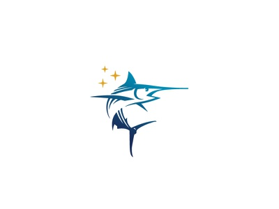 Swordfish logo design design outdoor adventure sea fishing ocean swordfish fish vector classic negative space illustration branding animal mark logo