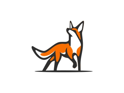 Red Fox logo forest wildlife white hunting smart wisdom logo animal wolf coyote fox red