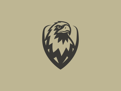 Eagle Shield Logo paintball military airsoft army mark logo bird animal kite hawk falcon eagle