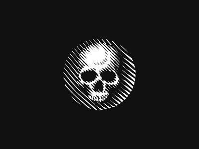 Skull logo knowledge wisdom death life bones etching woodcut engraving scratchboard logo skull human