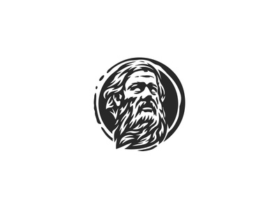 Beard logo logo restaurant food fashion clothing ancient roman italian greek face beard man