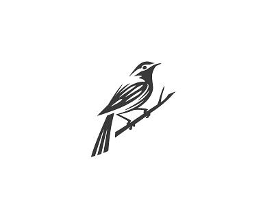 Bird logo negative space animal mark logo change comunication love sparrow swallow branch birds