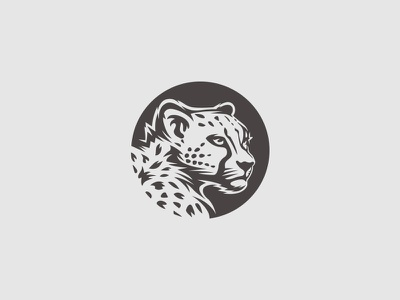 Cheetah logo big cat mark logo illustration cat animal leopard gepard cheetah
