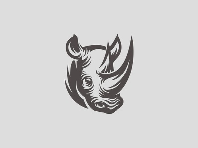 Rhino logo t-shirt illustration logo mark horns endangered gentle giant animal wild rhinoceros rhino