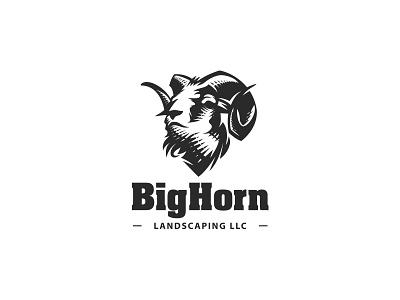 Bighorn logo sport endurance power strength animal mark logo illustration sheep bighorn ram