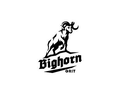 Bighorn sheep logo animal amr logo sport endurance grit strength power wild ibex sheep bighorn