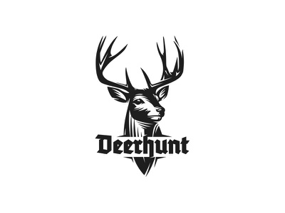 Deer Hunt Logo mule deer wildlife mark animal logo bow hunting hunt elk stag buck deer