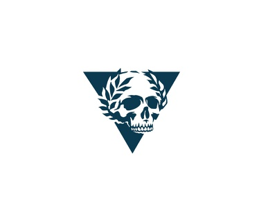 Skull logo special forces troops tactical swat sport skull military logo laurels glory badge airsoft