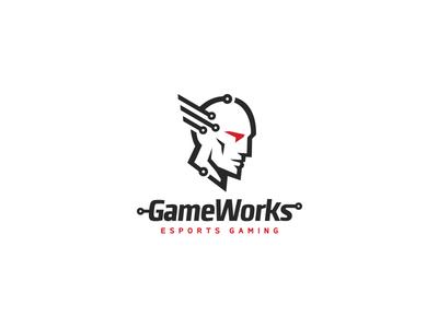 Esports logo minimal simple face artificial intelligence software aid esportlogo esports sport mark logo