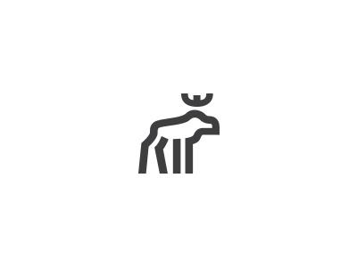 Moose logo minimalist logo minimal simple icon mark logo crown deer elk wildlife animal moose