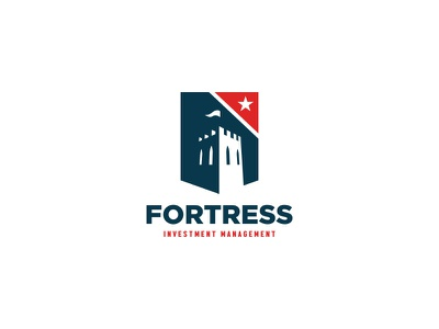 Fortress logo fund capital economics star investment finance mark logo stronghold tower fort fortress