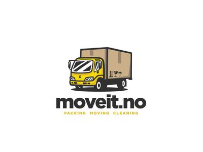 Moving company logo box cardboard box vector modern illustration moving truck truck mark logo movers moving moving company