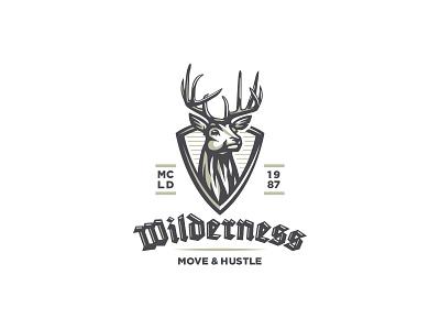 Mule deer logo emblem crest badge classic illustration animal mark logo bowhunting hunting deer mule deer