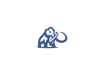 Mammoth logo tools construction mascot sport simple elephant negative space branding woolly mammoth mammoth animal logo