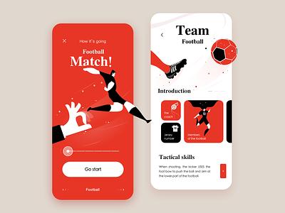 The football match ui design sketch football