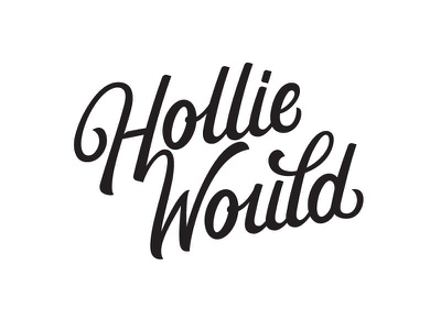 Hollie Would Logotype logotype logo hand lettered custom lettering custom type hand lettering lettering
