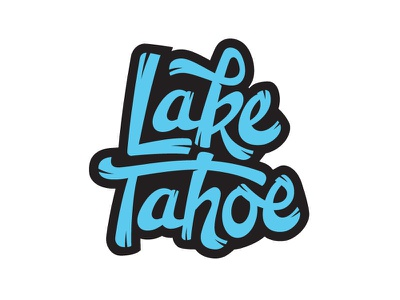 Lake Tahoe handlettered custom lettering logotype custom type type hand lettering lettering