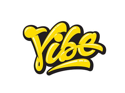 Vibe logotype hand lettered custom lettering custom type type hand lettering lettering