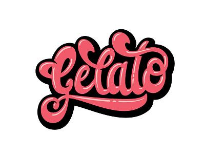 Gelato hand lettered custom type custom lettering hand lettering lettering graffiti calligraffiti