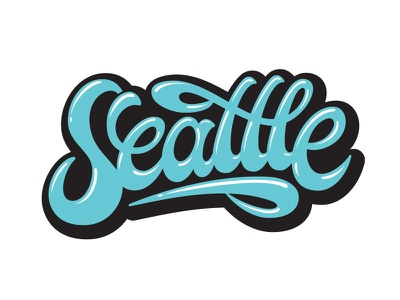 Seattle hand lettered custom lettering graffiti calligraffiti logotype custom type hand lettering lettering