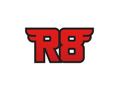 R8 Logo logo hand drawn branding type custom type lettering