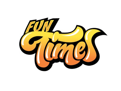 Fun Times type typography hand lettered custom type custom lettering hand lettering lettering
