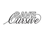 Save Cursive