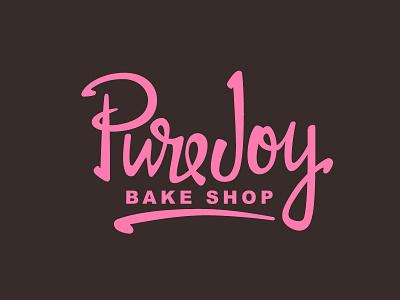 Pure Joy Logo calligraphy logotype branding typography type logo hand lettering lettering