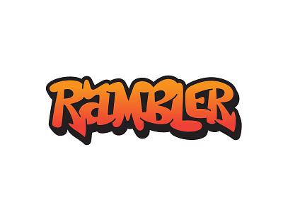 Rambler graffiti hand lettering lettering