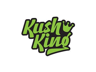 Kush King Logo typography graffiti hand lettering lettering