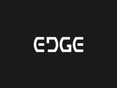 Edge logotype identity custom lettering branding logo custom type type typography lettering