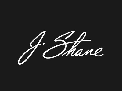 J Shane Signature Logo signature logo branding calligraphy hand lettering lettering